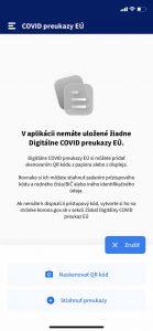 Pridať digitálny COVID preukaz EÚ