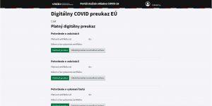 Digitálne COVID preukazy EÚ